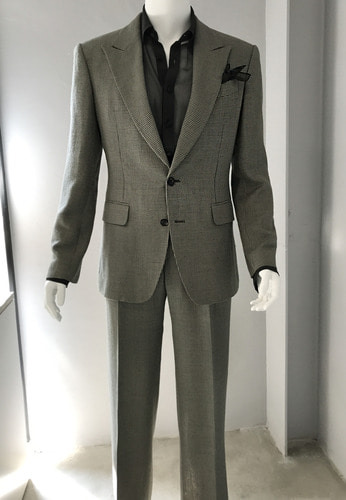 KHAKI GRAY CHECK SUIT