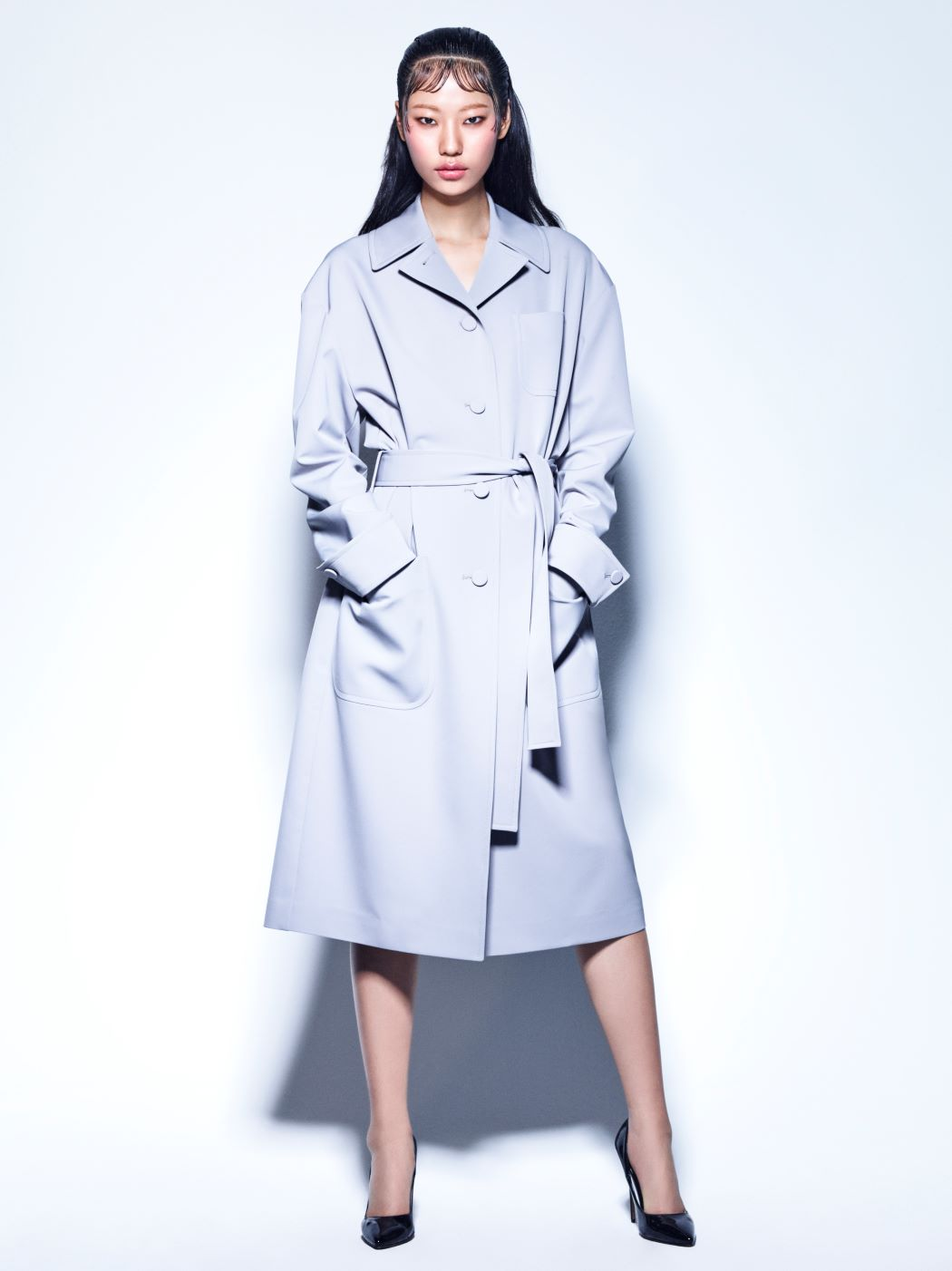 GRAY ROBE COAT